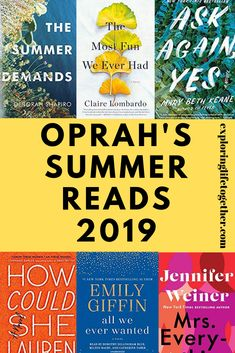 5 of Oprah's picks for Summer reading & other book club favs. 5 of Oprah's picks for Summer reading & other book club favs. Great finds for your next book club, some are recommended by Reese, Oprah and also some… Continue Reading → Best Books To Read, I Love Books, My Books, Reading Books, Books For Book Club, Good Books To Read, Novels To Read, Best Selling Books, Great Books