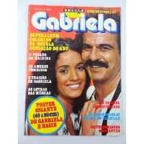 Antigo Poster Gigante Revista Contigo Gabriela Sonia Braga
