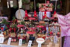 A display of miniature floats that parade in the Gion Matsuri (祇園祭り) in Kyoto! This was in a store, I am not sure if they are for sale though. #Yoiyama, #宵山, #GionMatsuri, #祇園祭り, #Kyoto, #Japan,
