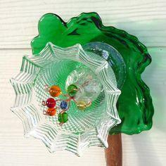 Garden art glass sculpture garden decor suncatcher by RecycleRoom, $30.00