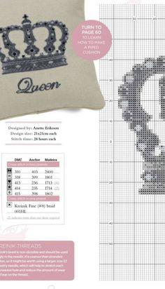 Cross Stitching, Cross Stitch Embroidery, Cross Stitch Patterns, Cross Stitch Alphabet, Stitch 2, Crafty Craft, Decor Crafts, Needlepoint, Needlework