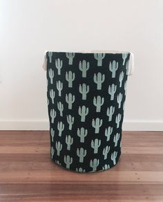 Your place to buy and sell all things handmade Fabric Storage, Toy Storage, Laundry Hamper, Laundry Room, Toy Basket, Cactus Print, Little Ones, Printing On Fabric, My Etsy Shop