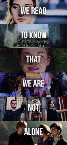 Divergent, The Maze Runner, TFIOS, The Hunger Games, Harry Potter❤️❤️ Don't know what is I Love Books, Good Books, Books To Read, My Books, Movie Quotes, Book Quotes, Citations Film, The Hunger Games, Book Memes