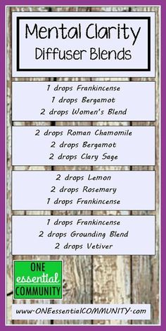 essential oil diffuser blends for mental clarity