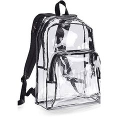 School Supplies Eastsport Clear Backpack ($23) ❤ liked on Polyvore featuring bags, backpacks, accessories, clear backpack, clear bags, rucksack bag, day pack backpack and backpacks bags