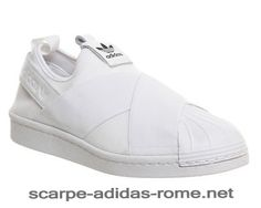 size 40 6acac 25522 Adidas Superstar Slip On Trainer Bianche Uomo Donna (Adidas Nuove)