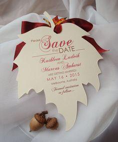 Falling In Love Hand Cut Ivory Linen Maple Leaf by envymarketing