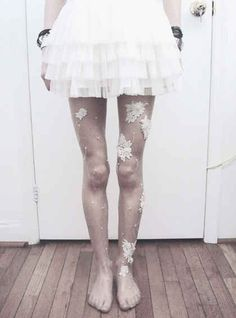 Embellished Tights | 34 Fall Fashion DIYs That Are Incredibly Easy