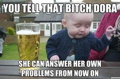Drunk baby meme.