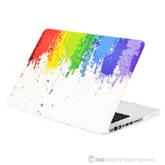 Color Paint Splash Rubberized Hard Case for MacBook Pro Model Laptop Keyboard Covers, Phone Covers, Laptop Cases, Macbook Pro 13 Inch, Macbook Pro Case, Macbook Accessories, Computer Accessories, Paint Splash, Color Splash