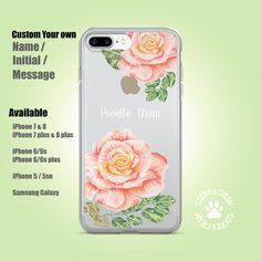Items similar to Poodle Mom Floral phone case, Customised phone case initials or name, Dog lovers, iPhone 8 / iPhone 7 plus / iphone / Samsung galaxy on Etsy Iphone 7 Plus, Iphone 8, Iphone Cases, Personalized Phone Cases, Poodle, Etsy Store, Initials, My Etsy Shop, Samsung Galaxy
