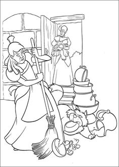 59 best Coloring Pages/LineArt-Disney-Cinderella images on