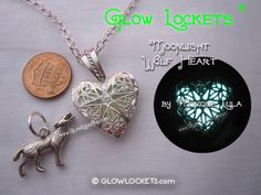 Wolf Heart with Moonlight Glow Locket ®. Starting at $1 on Tophatter.com!