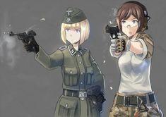 The Art of – Fascist Anime Anime Military, Military Girl, Apocalypse Costume, Guerra Anime, Anime Warrior Girl, Character Art, Character Design, Military Drawings, Anime Weapons