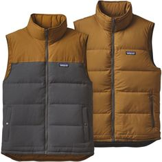 Patagonia Men's Reversible Bivy Down Vest, Size: Medium, Forge Grey #vestswomensoutfits