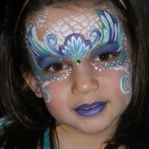 Stephanie's Face Painting » Really Detailed Mermaid Face