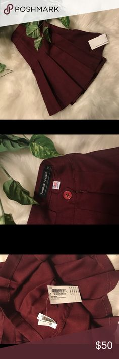 Brand new American Apparel True blood Tennis skirt Brand new never worn, American Apparel maroon  tennis skirt in size extra small perfect condition tags attached American Apparel Skirts