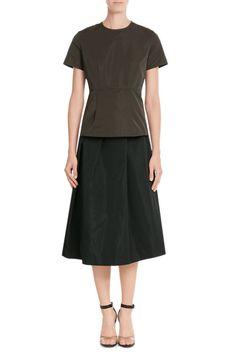 Midi-Skirt Vaniglia mit Seide | Jil Sander