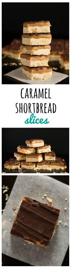 Caramel Shortbread Slices