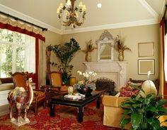 интерьер комнаты, стиль эклектика