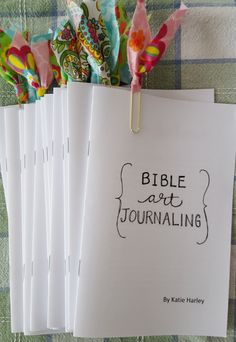 Free copy of my mini book Bible Art Journaling by Katie Harley