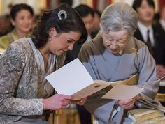 Empress Michiko and Princess Alexandra couldn't be more adorable together.