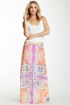Printed Maxi Skirt by Hale Bob on @HauteLook