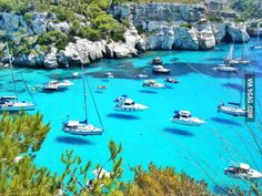 Floating Ships in Menorca, Spain