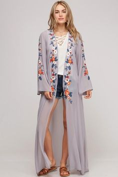 e544bd8483 Big Rings Mauve Sheer Floral Kimono Floral Kimono, Kimono Top, Big Rings,  Matches