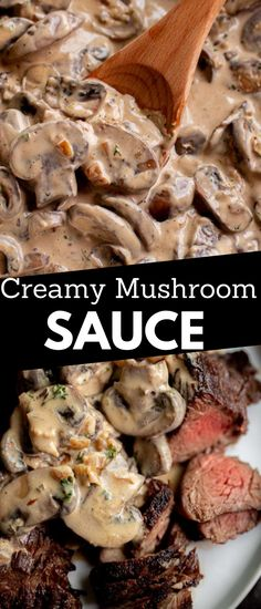 Vegetarian Recipes Easy, Veggie Recipes, Lunch Recipes, Appetizer Recipes, Beef Recipes, Dinner Recipes, Appetizers, Cooking Recipes, Creamy Mushroom Sauce