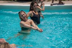 Pin for Later: Melissa Joan Hart Celebrates Her 40th Birthday in a Bikini With Friends
