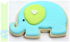 Elephant Baby Shower Cookies by Sweetopia   Free Printable Bag Toppers