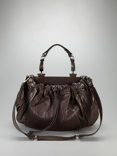 Large Leather Convertible Satchel by Marni