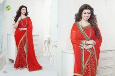 Georgette Designer Saree   #designersaree #georgettesaree #indiansaree #craftshopsindia