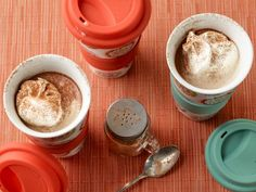 Pumpkin Spice Latte heaven! Savor the warm spices of this seasonal coffee shop favorite in your very own kitchen (any time of year) and save a few bucks! A little pumpkin puree added to the warm milk gives the latte extra body.