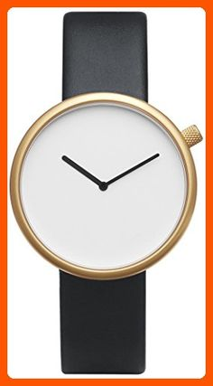 Bulbul Ore 07 Men's Watch - Matte Golden Steel on Black Italian Leather - Watches its about time (*Amazon Partner-Link)