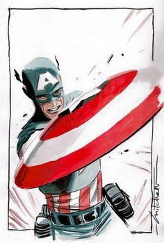 Captain America by Mitch Breitweiser *