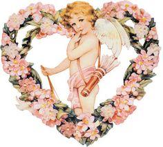 Lindas imagens de cupidos, anjos para celebrar o dia dos namorados com muito amor em belas decoupage e outras artes.