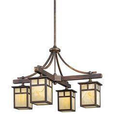 Kichler 49091 Alameda Single-Tier Indoor / Outdoor Chandelier with 4 Lights - St Canyon View Indoor Lighting Chandeliers