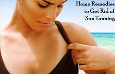 Natural Home Remedies To Get Rid of Sun Tanning