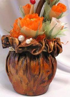 Vase Beton - Welcome my homepage Wine Bottle Art, Wine Bottle Crafts, Jar Crafts, Decor Crafts, Diy And Crafts, Concrete Pots, Concrete Crafts, Cement Flower Pots, Flower Vases