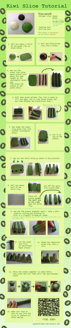 Kiwi Slice Tutorial by QueEnOfNights.deviantart.com on @deviantART
