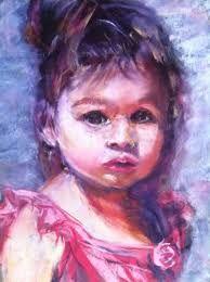 Image result for portrait paint purple
