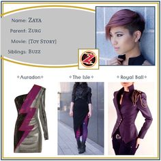 """Descendants OCs on Instagram: """"Zaya ✧ Daughter of Zurg •••••••••••••••••••••••••••••••••••••••••••••• Feel free to use this character however you like - just please tell…"""" Disney Outfits, Descendants, Toy Story, Fairy Tales, Oc, Aesthetics, Daughter, Parenting, Movies"""