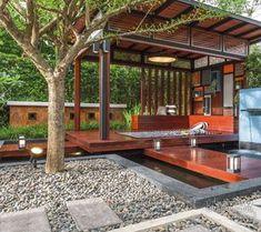 31 Ideas Exterior Restaurant Terrace For 2019 Patio Design, Exterior Design, Interior And Exterior, House Design, Thai House, Loft House, My House, Style At Home, Porches