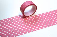 Washi Masking Tape rosa HERZEN LIEBE LOVE von washitapes auf DaWanda.com