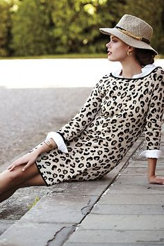 Anthropologie:  Leopard Sweater Dress - $178