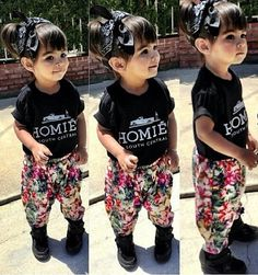 9e8bbb578 Baby Girl Outfit Clothes Letter Print Short Sleeve T-Shirt+Floral Long  Pants Beautiful Girls Trousers kids clothes
