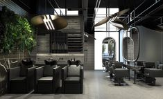 A R T should be created for life, not for the museum. HEADEN // garden of hair — New Hair salon in town — Black Marble, Concrete Floors, Ceiling Lamp, Contemporary Design, Industrial, Museum, Brass, Interior Design, Mirror