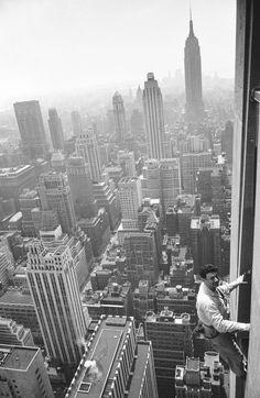 El limpiador de cristales, el oficio más genuinamente neoyorquino